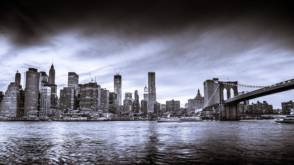 New York City Skyline black and white GS From Brooklyn B Flickr