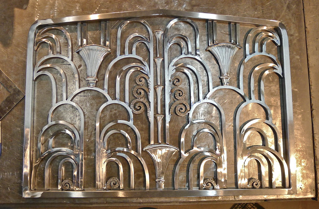 ... ART DECO FIREPLACE SCREEN : : needing some more polishing b4 being TIG  welded in the - ART DECO FIREPLACE SCREEN : : Needing Some More Polishing €� Flickr