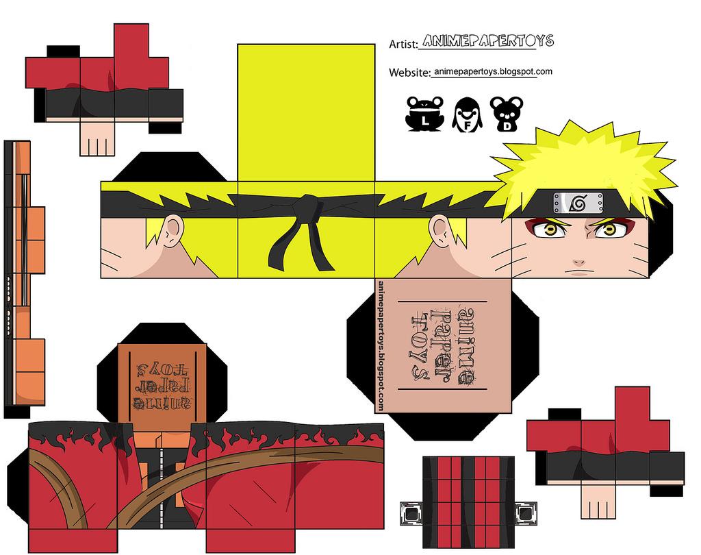 naruto shippuden sage mode papercraft naruto modo sennin