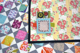 Mini Juicy - mini version of Juicy quilt in Modern Quilts from the Blogging Universe | by Happy Zombie