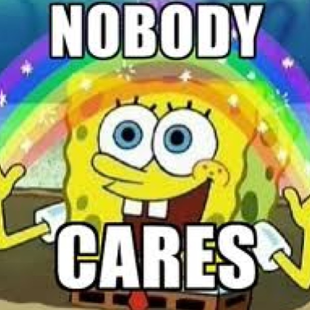 #spongebob #squarepants #meme #rainbow #yourlife #nobodyca ...