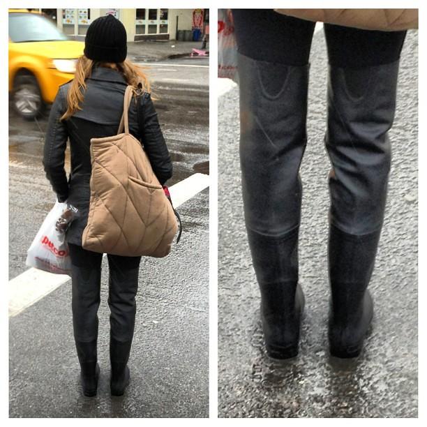 Thigh High Rain Boots - Cr Boot