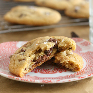 Nutella-Stuffed Brown Butter Chocolate Chip Cookies | by Tracey's Culinary Adventures
