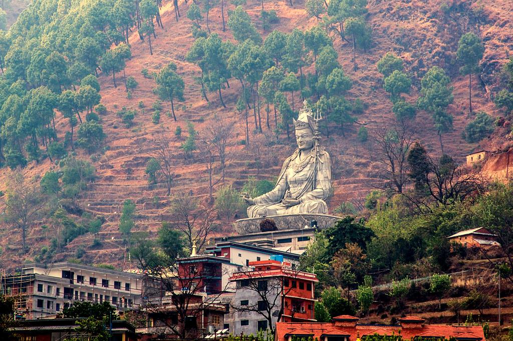 Gigantic Guru Rinpoche Near Pharping Nepal Still