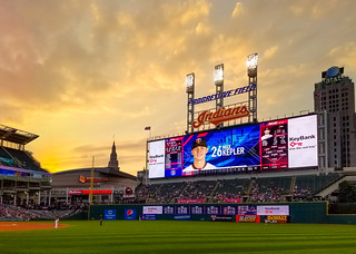 Sunset at Progressive Field | by Harold Brown