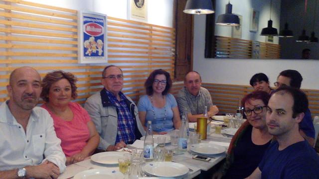 Comida del 10º aniversario. Madrid, restaurante Dionisos, 24.9.16
