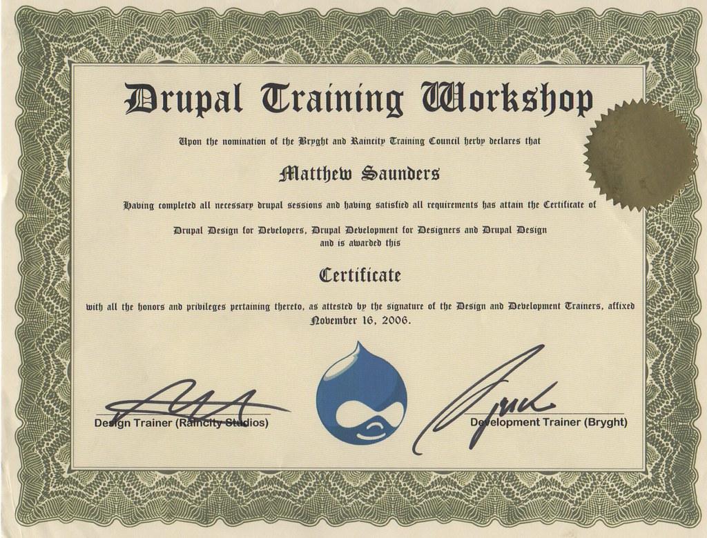 Drupal Certification Matthew Saunders Flickr