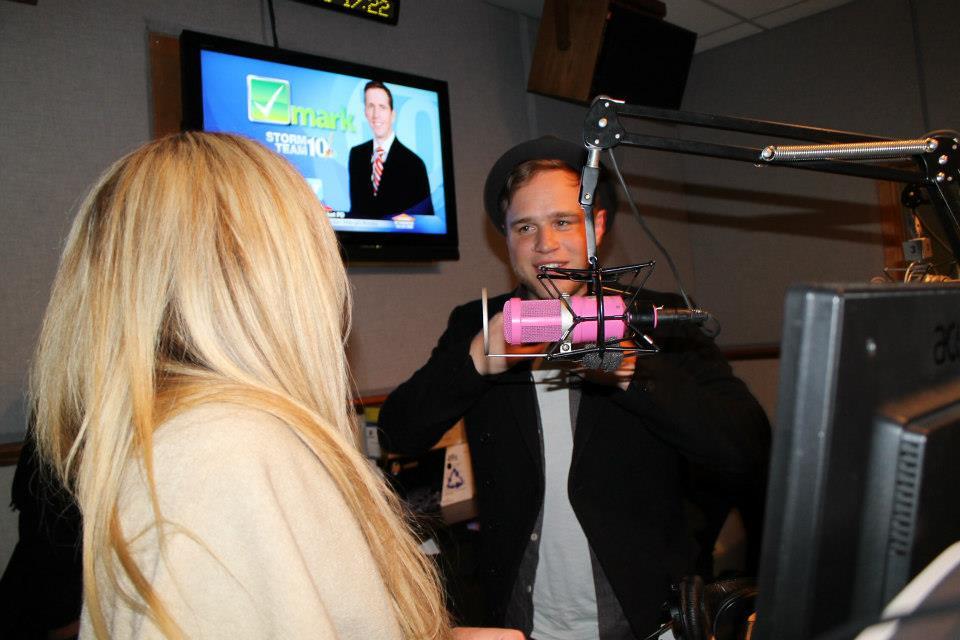Olly Murs Barbi Jo In The 92 PRO FM Studio