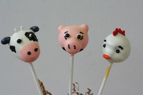 Farm Animal Cake Pops | by Sweet Lauren Cakes