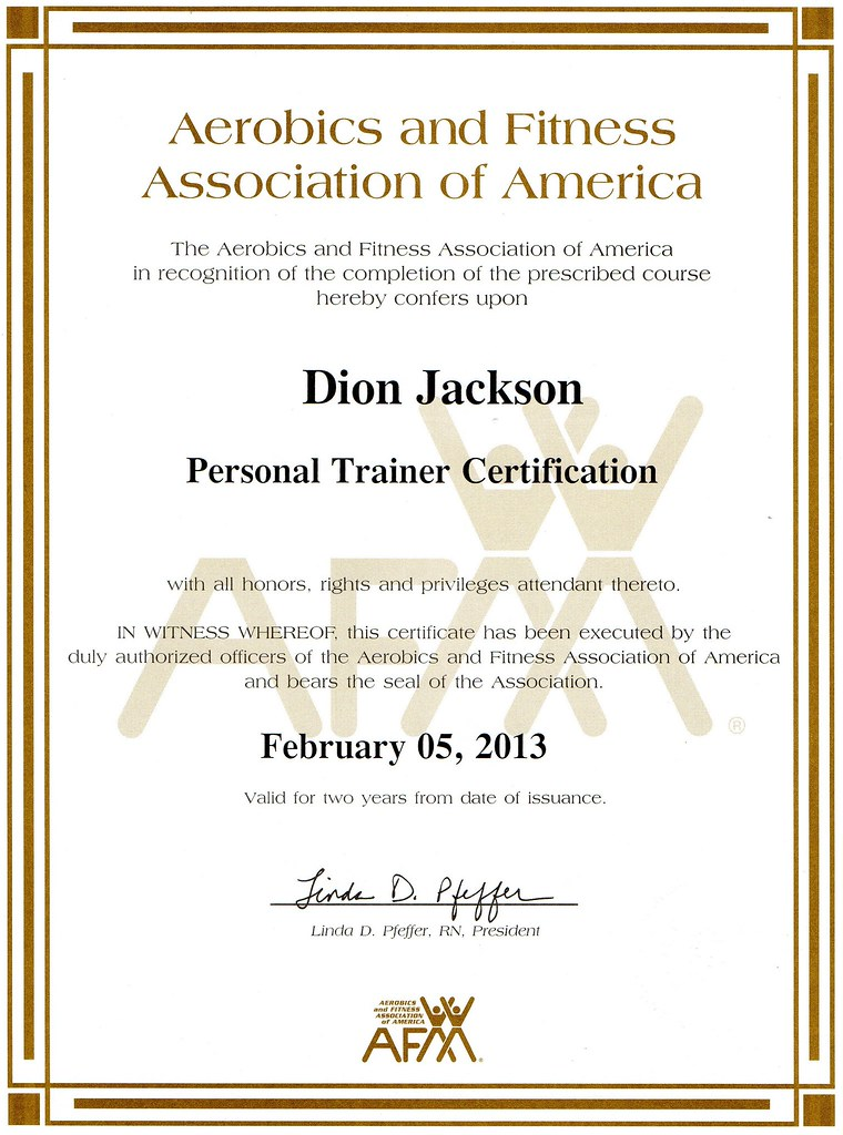 Dion Blast Jacksons Afaa Personal Trainer Certification Flickr