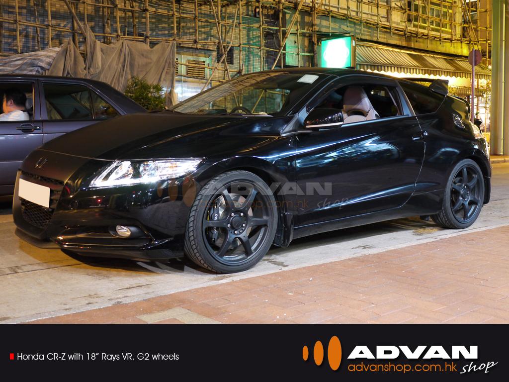 honda crz with 18quot rays vrg2 wheels advan shop flickr