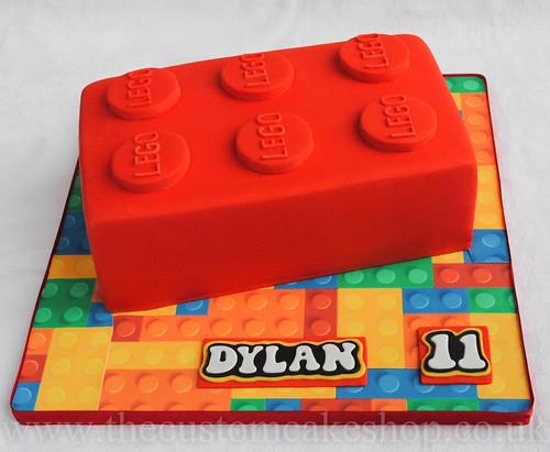 Lego Brick Birthday Cake Large Red Lego Brick Birthday