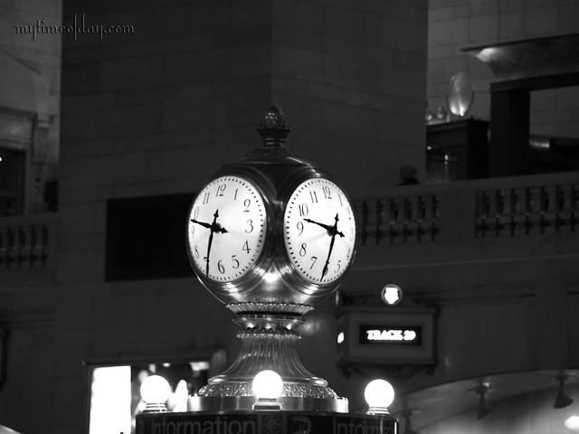 Clock Grand Central Terminal  New York  NY in black and whiteGrand Central Station Clock Black And White