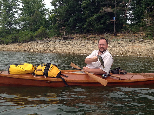 Camping and kayak fishin on Stockton Lake, August 5-6, 2016