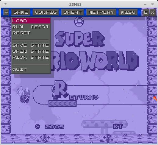 ZSNES (Emulador de Super Nintendo)