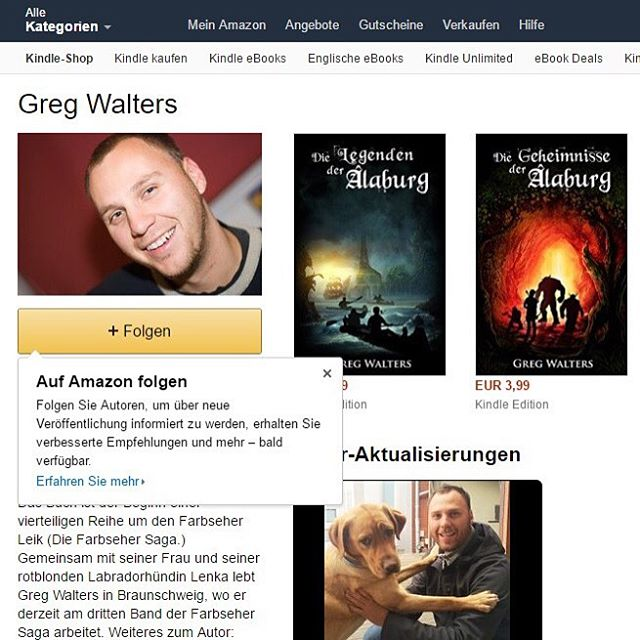 #gregwalters #fantasy Folgt mir bei #Amazon und verpasst kein #neuerscheinung mehr. #gregwalters #fantasy