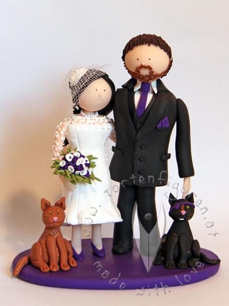 Brautpaar Mit Katzen Tortenfiguren Flickr