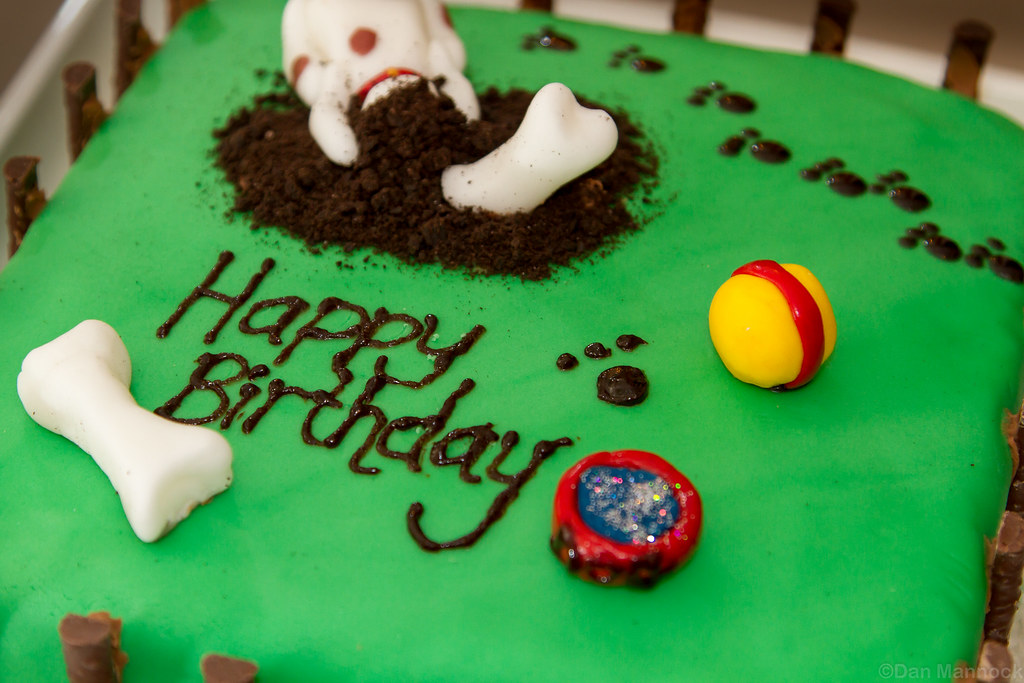 how to make a dog themed cake