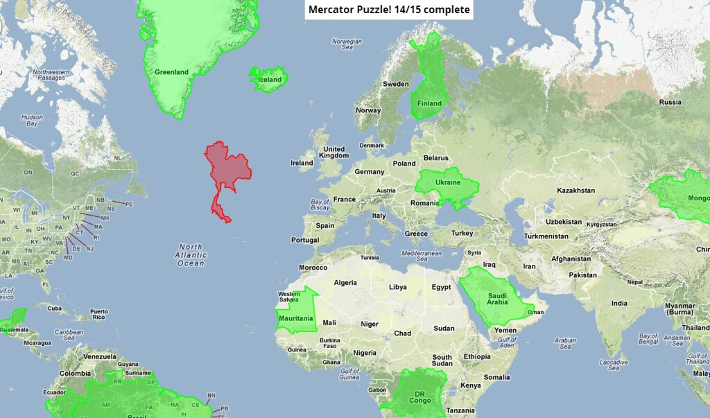 Great By NeilCocker Mercator Puzzle! | By NeilCocker