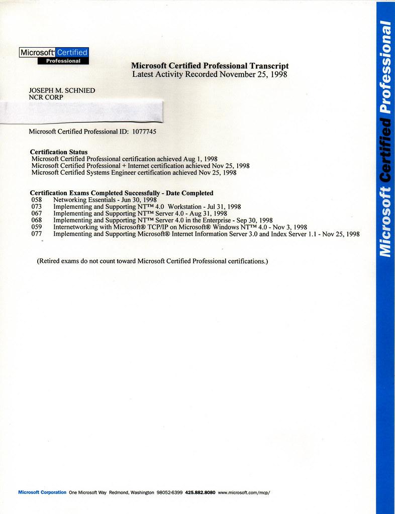 Microsoft Transcript Joseph Schneid Flickr