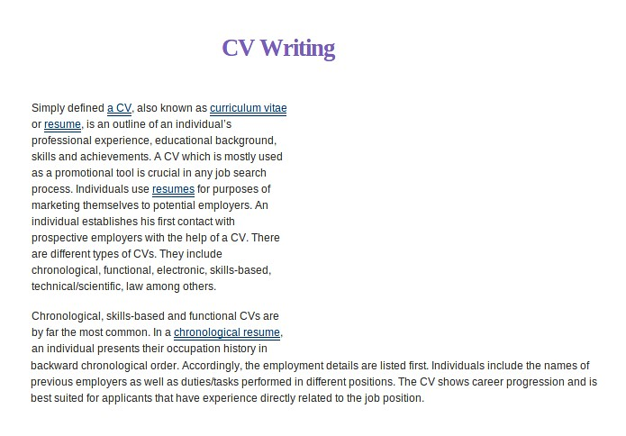 sample cvs simply defined a cv also knownas curriculum vi flickr