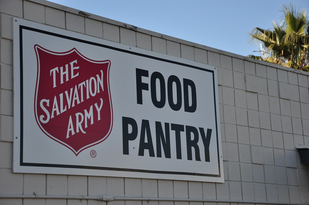 Salvation Army food pantry sign Salvation Army USA West Flickr