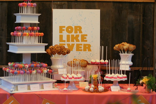 Cake and Pie Pop Display for Eat, Drink, and Get Married Event | by Sweet Lauren Cakes