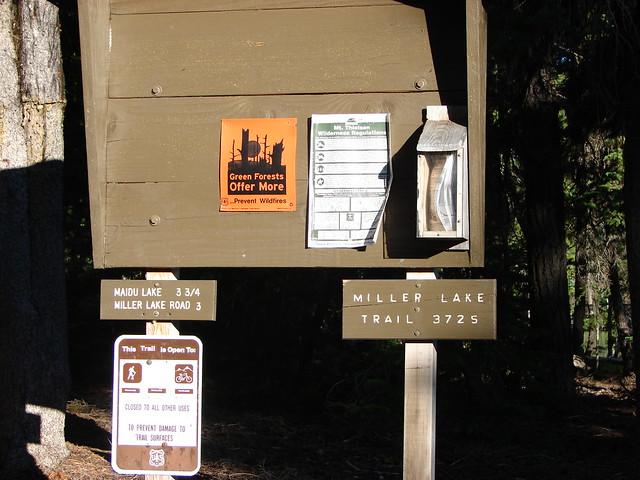 Miller Lake Trailhead