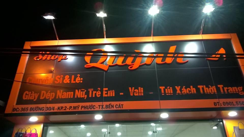bang hieu shop giày Quỳnh