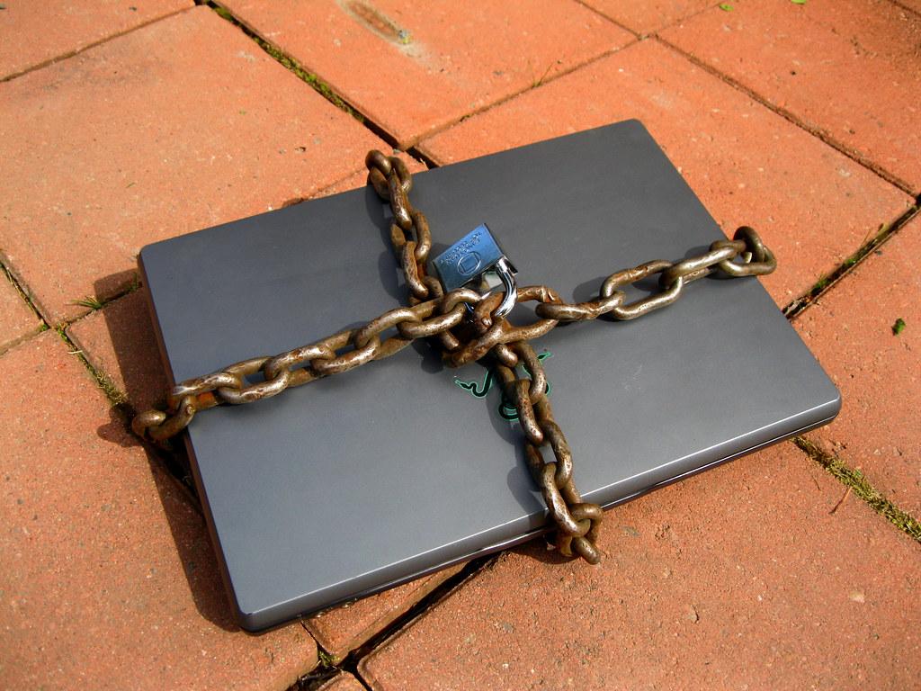 Locked computer laptop