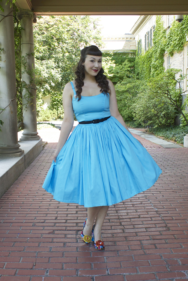 Sky Blue Jenny Dress Pinup Couture