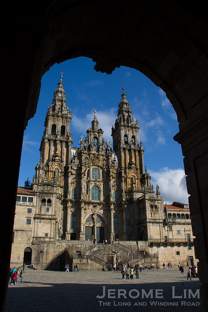 The Cathedral of Santiago de Compostela, where the relics of St. James (Santiago), one of the 12 apostles, is kept.