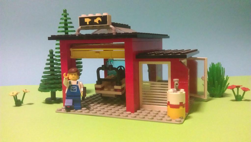 Lego 6369 1 Garage 1985 Mallardine Flickr