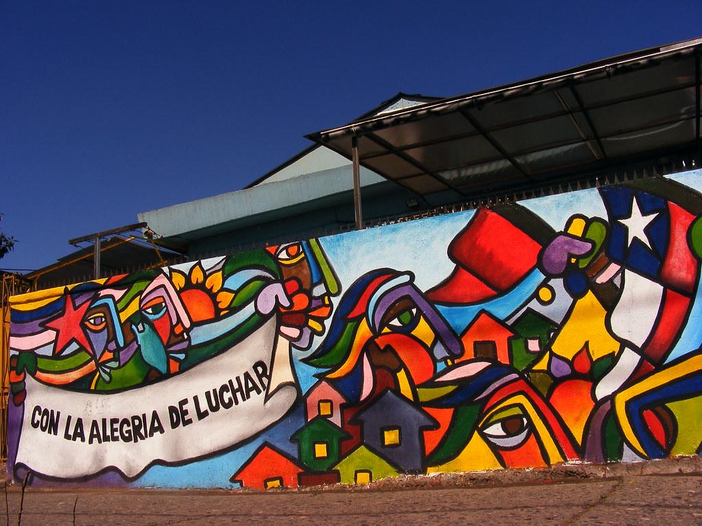 Brigada ramona parra lugar citadino 976 es muralismo for Carpenter papel mural santiago chile