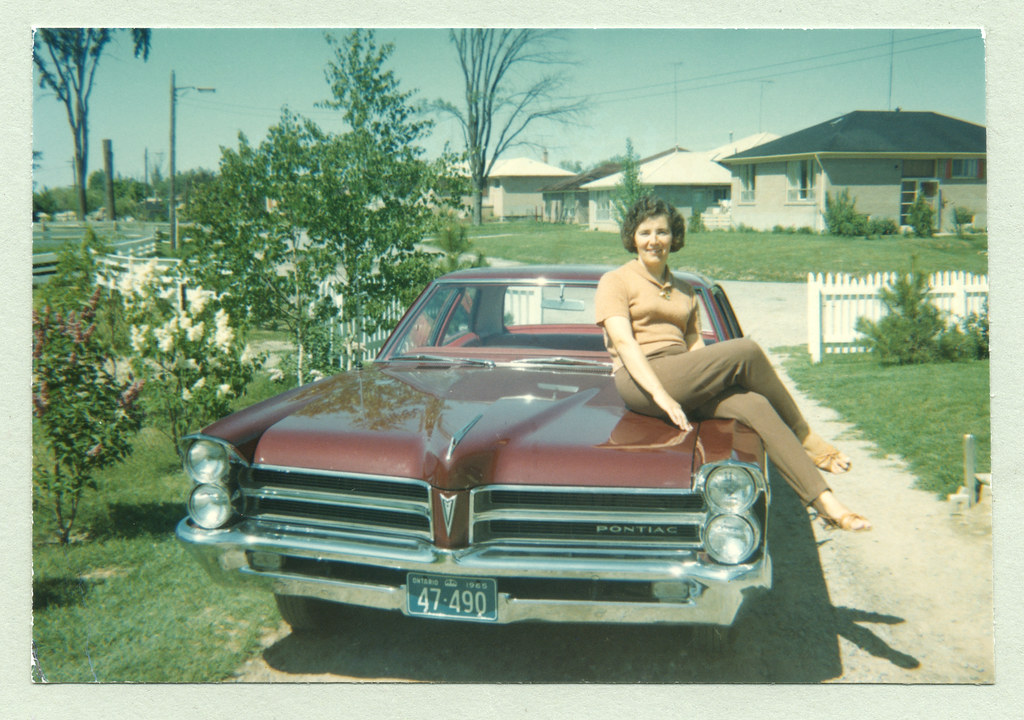 1965 Pontiac Laurentian A Brunette Lady In Stirrup Pants