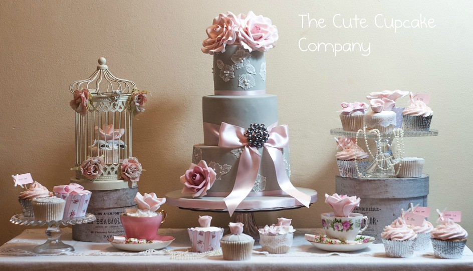 cake table wedding dove grey and pink wedding cake table loved doing this 2345