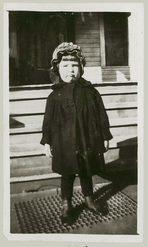 Child and coat