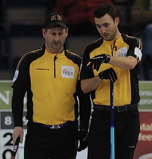 Edmonton Ab.Mar6,2013.Tim Hortons Brier.New Brunswick skip James Gratton third Jason Roach,CCA/michael burns photo | by seasonofchampions