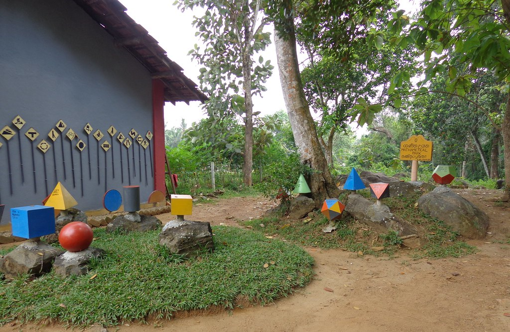 geometric shapes in a math park in sri lanka by global partnership for education