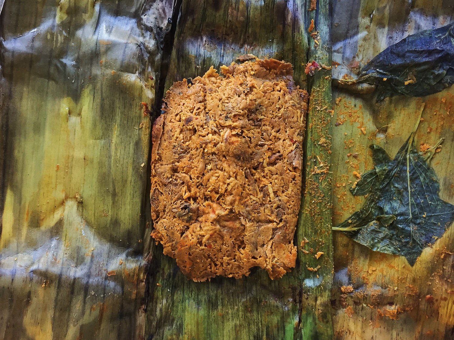 Vegan Hed Mok in Banana Leaf