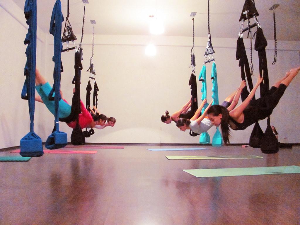 Modular Classroom Yoga : Swing yoga aerial class omni gym and