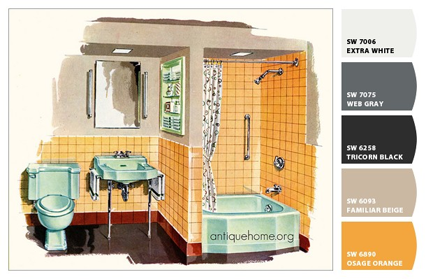 ... Minty Green And Orange Bathroom | By Daily Bungalow