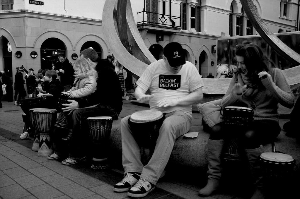 RonsterTakesPhotos Backin Belfast Street Drummers