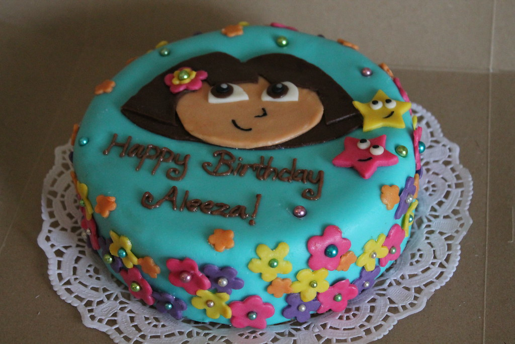 Dora the Explorer cake Maryam Issadeen Flickr