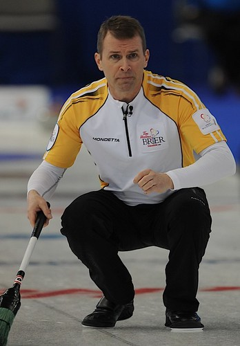 Edmonton Ab.Mar4,2013.Tim Hortons Brier.Manitoba skip Jeff Stoughton.CCA/michael burns photo | by seasonofchampions