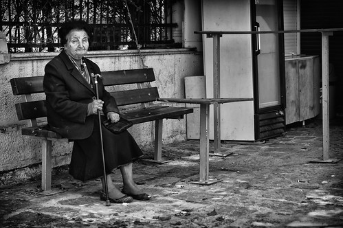 Sitting On A Bench I Saw This Little Old Lady Just