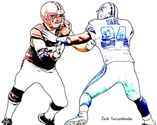 Cleveland Browns Joe Thomas - Dallas Cowboys DeMarcus Ware | by Jack Kurzenknabe