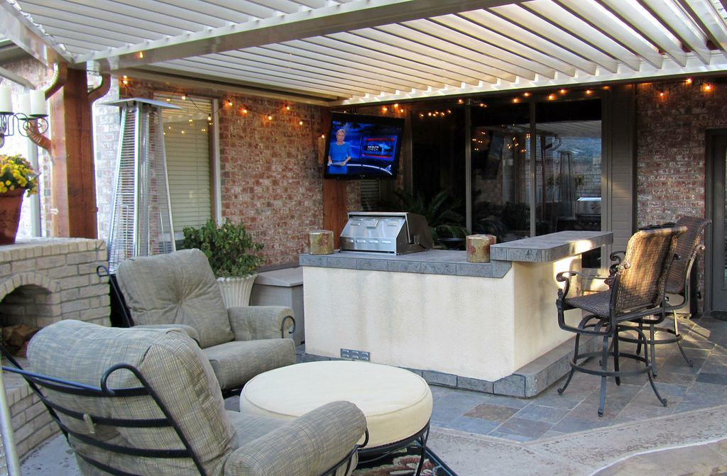 Covered Outdoor Living Room