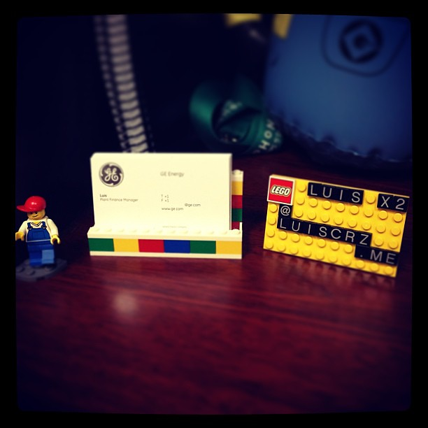 Lego desk business card holder 850425 new office toy shop flickr lego desk business card holder 850425 by luiscrz reheart Gallery