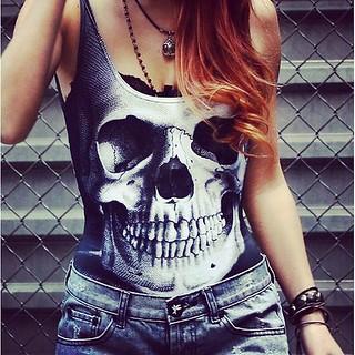 #emo #swag #girl #nice #look #pretty #hair #skull #instagr ...